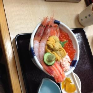 おいしい北海道の海の幸です。