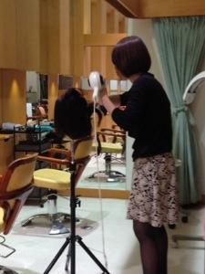 みづきちゃんがストレートブローの練習してます